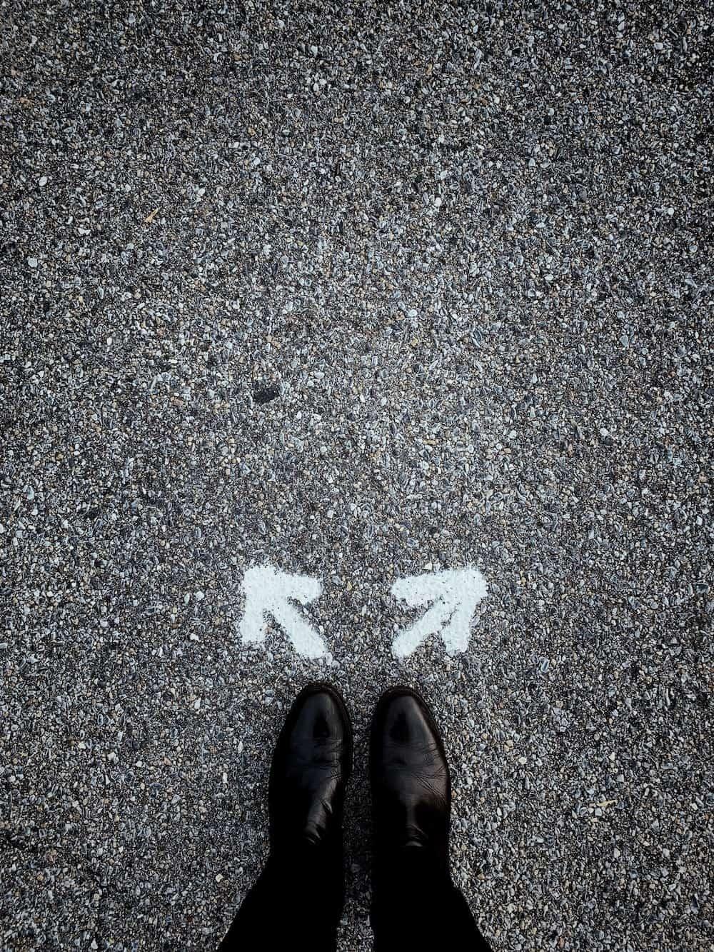 fötter pilar vägval coaching